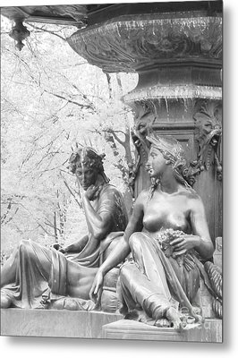 Metal Print featuring the photograph Saturday Afternoon In The Park I by Ann Johndro-Collins