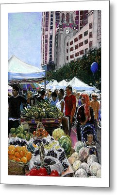 Saturday Morning Market Metal Print by Barry Rothstein