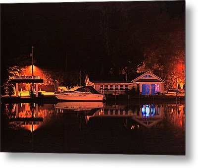 Saugatuck Chain Ferry Metal Print by James Rasmusson