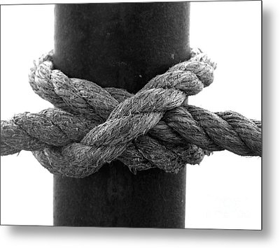 Saugerties Lighthouse Rope Knot Photograph Metal Print