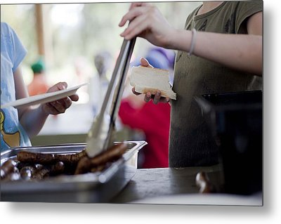 Metal Print featuring the photograph Sausage Sizzle by Carole Hinding
