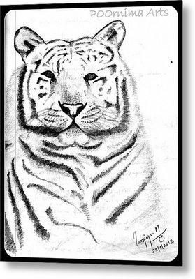 Save Tigers Metal Print by Poornima M