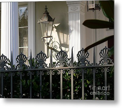 Metal Print featuring the photograph Scallop Fence by Jeanne  Woods