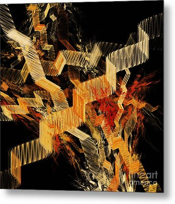 Scare Case Stair Case Metal Print by Andee Design