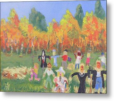 Scarecrow Contest Metal Print by Robert P Hedden