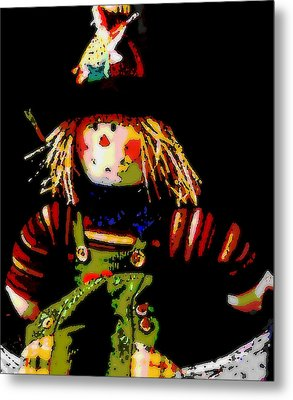 Scarecrow Metal Print by David Alvarez