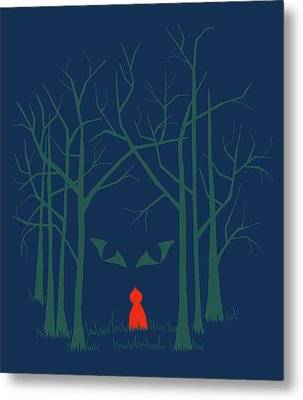 Scary Home Metal Print by Illustrations