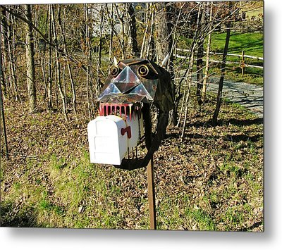 Metal Print featuring the photograph Scary Mailbox 3 by Sherman Perry