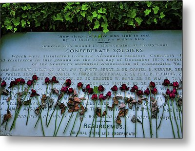 Scatter Roses On My Grave Metal Print by Steven Ainsworth