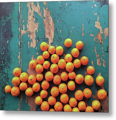Scattered Tangerines Metal Print by Sarah Palmer