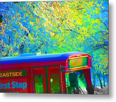 Scene From The Bus Station Metal Print by Lenore Senior