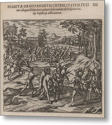 Scene Of Early Slavery In The Americas Metal Print by Everett