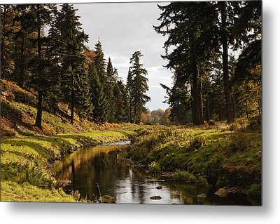Scenic River, Northumberland, England Metal Print by John Short