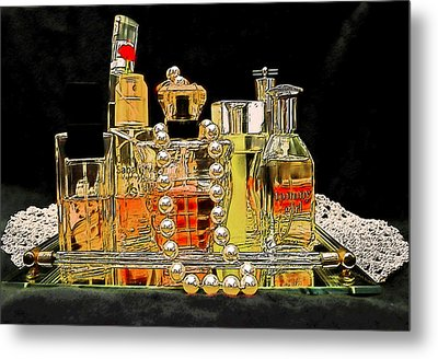 Metal Print featuring the photograph Scents Of A Woman by DigiArt Diaries by Vicky B Fuller