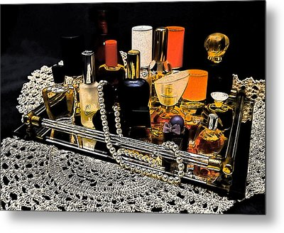Metal Print featuring the photograph Scents Of A Woman II by DigiArt Diaries by Vicky B Fuller