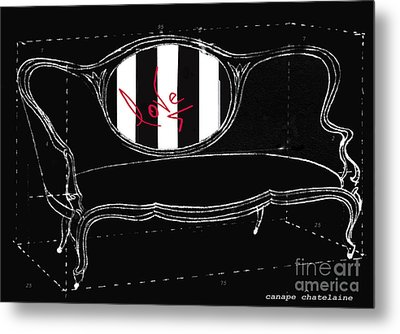 Schematic Love Juvenile Licensing Metal Print by Anahi DeCanio