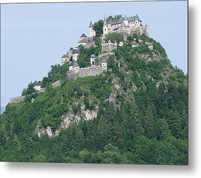 Metal Print featuring the photograph Schloss Hochosterwitz Austria  by Joseph Hendrix