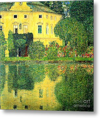 Schloss Kammer On The Attersee Metal Print by Pg Reproductions