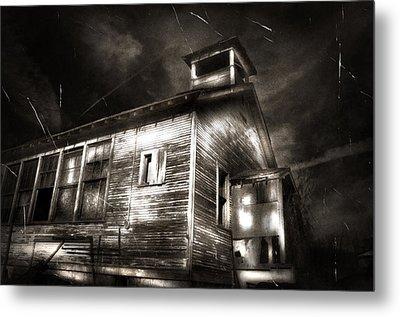 School House Rot Metal Print by Karri Klawiter