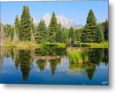 Schwabacher Landing Still Waters Metal Print by Greg Norrell