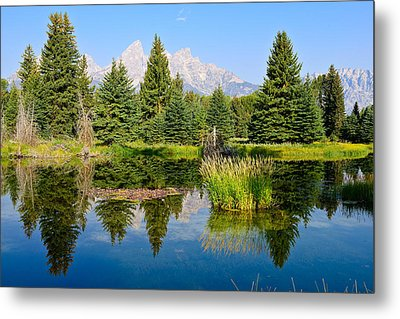 Schwabacher Reflections Metal Print by Greg Norrell
