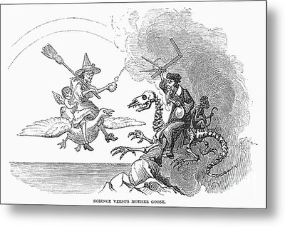 Science Vs. Mother Goose Metal Print by Granger