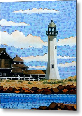 Scituate Light House Metal Print