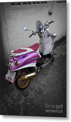 Scooter Power Metal Print