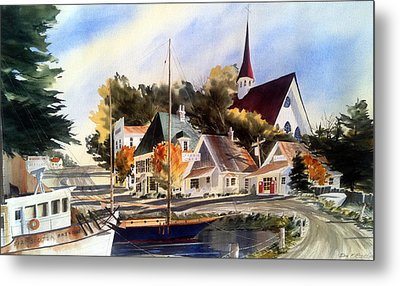 Scotia Princess ---annapolis N.s. Metal Print by Don F  Bradford
