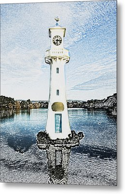 Metal Print featuring the photograph Scott Memorial Roath Park Cardiff 3 by Steve Purnell