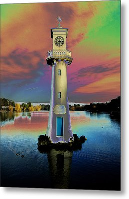 Metal Print featuring the photograph Scott Memorial Roath Park Cardiff 4 by Steve Purnell
