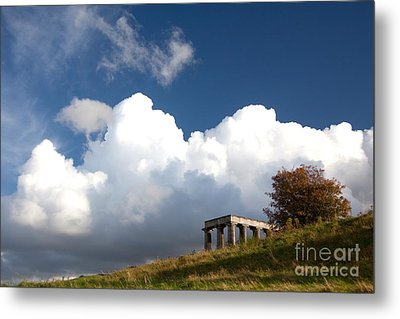Scottish National Monument On Calton Hill Metal Print by Steven Gray