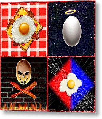 Scrambled Eggs Metal Print by Cristophers Dream Artistry