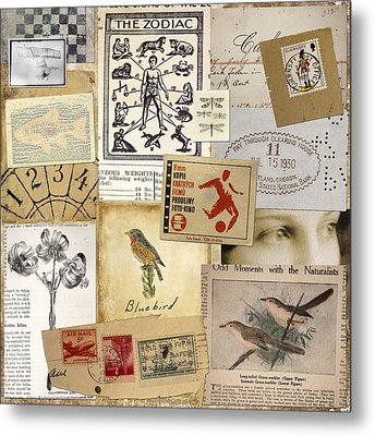 Scrapbook Page Number 1 Metal Print by Carol Leigh