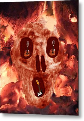 Scream Music Metal Print by Eric Kempson