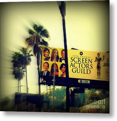 Screen Actors Guild In La Metal Print by Susanne Van Hulst