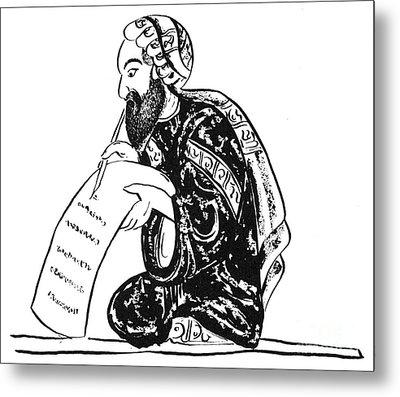 Scribe: Arab, 14th Century Metal Print by Granger