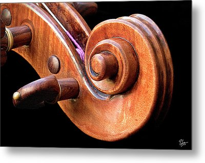Metal Print featuring the photograph Scroll Detail by Endre Balogh