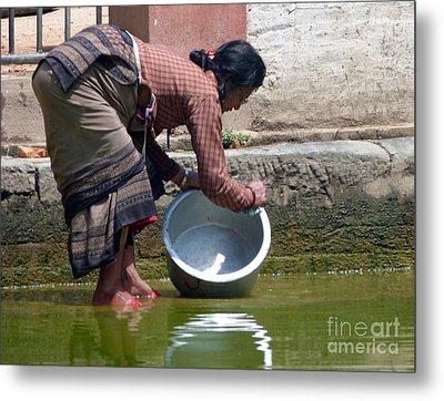 Scrub Day- Nepal Metal Print by Louise Peardon