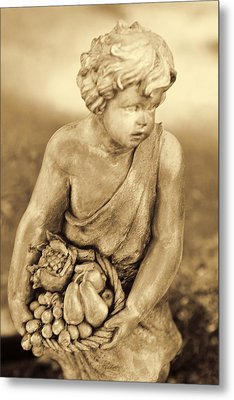 Sculpture In Sepia Metal Print by Linda Phelps