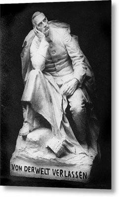 Sculpture Of Kaiser William II, Title Metal Print by Everett