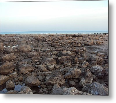 Sea And Stones.. Metal Print by Holly Georgina McQuoid