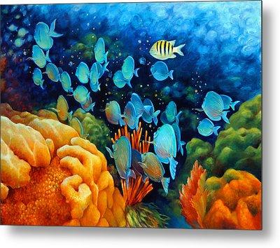 Sea Escape II - Wayward Fish Metal Print by Nancy Tilles