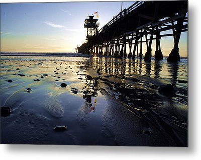 Sea Glass And Flags Metal Print by Kevin Moore
