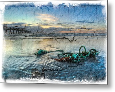 Sea Knot Metal Print by Debra and Dave Vanderlaan