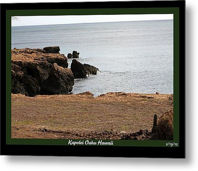 Metal Print featuring the photograph Sea Side  by Elizabeth  Doran