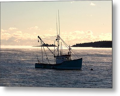 Metal Print featuring the photograph Sea-smoke On The Harbor by Brent L Ander