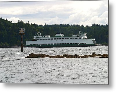 Sealth Ferryboat Rich Passage Metal Print by Kym Backland
