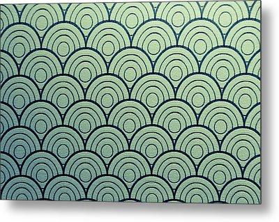 Seamless Wave Pattern Metal Print by Hirokazu YAMANOUCHI
