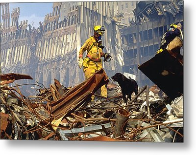 Search And Rescue Teams Search Metal Print